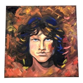 Original Contemporary Impressionist Jim Morrison Pop Art Painting by Alexandra Brown For Sale