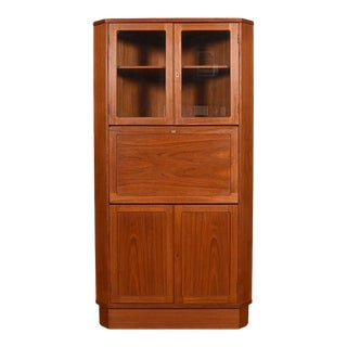 Danish Teak Corner Storage Cabinet / Bar For Sale