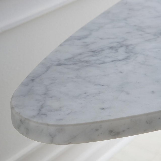 Angelo Mangiarotti White Carrara Marble Eros Console Table by Angelo Mangiarotti for Skipper, Italy For Sale - Image 4 of 7