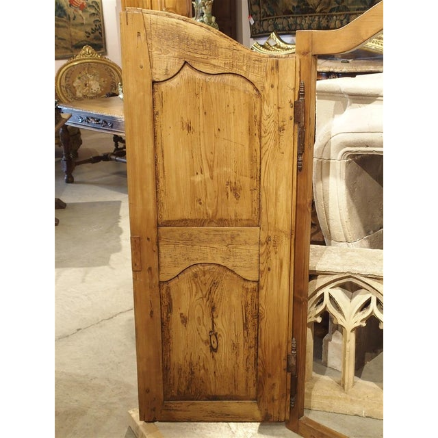 Wood Pair of Antique French Pine Cabinet Doors, 19th Century For Sale - Image 7 of 11
