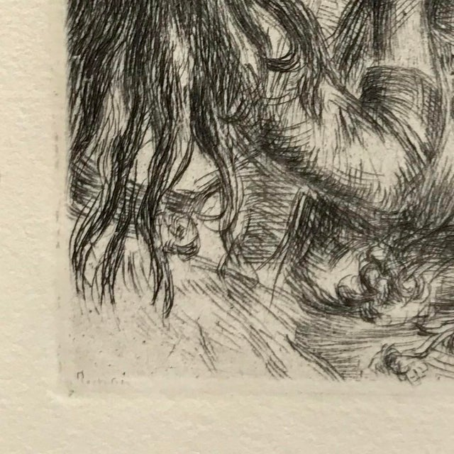 Pierre-Auguste Renoir Renior 1894 Etching With Museum Glass For Sale - Image 4 of 9
