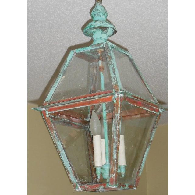 Rustic Copper Hanging Lantern - Image 10 of 10