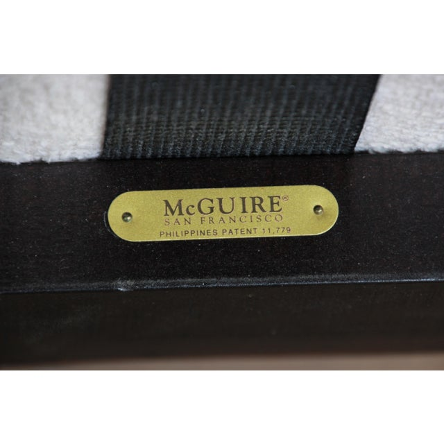 Rattan and Cane Settee or Love Seat by McGuire of San Francisco For Sale - Image 12 of 13