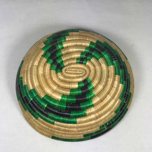Handmade African Grass Basket - Image 7 of 11