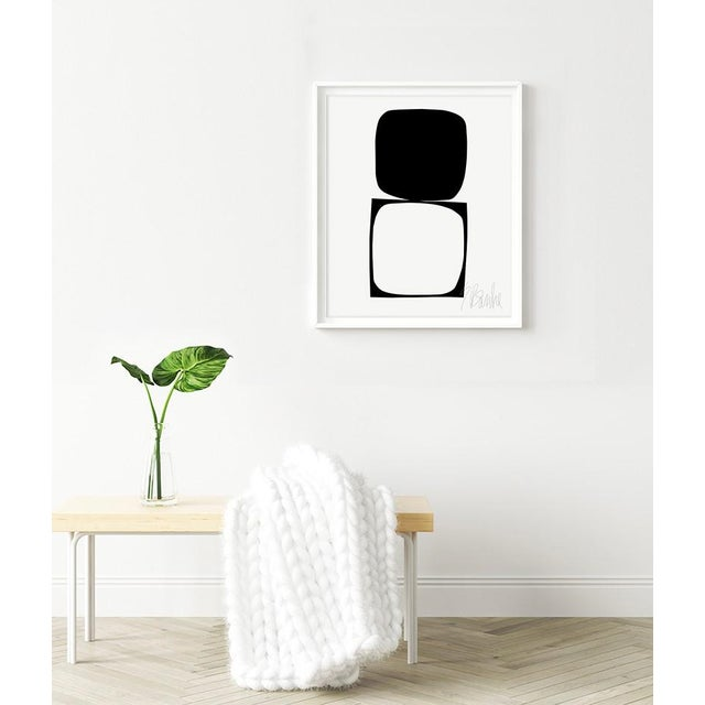 """""""The Potential of the Square, no. 4""""by Liz Roache (Black and White) This Modern, Mid Century, Bauhaus Fine Art Print was..."""