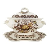 Image of 19th Centruy Mason Large Ascot Soup Tureen and Underplate For Sale