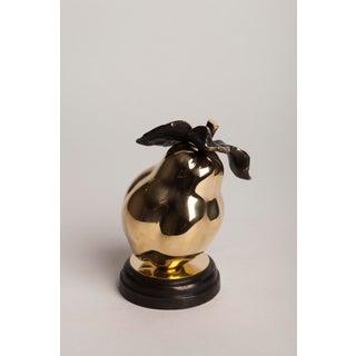 Contemporary Bronze Pear Figurine / Sculpture Preview