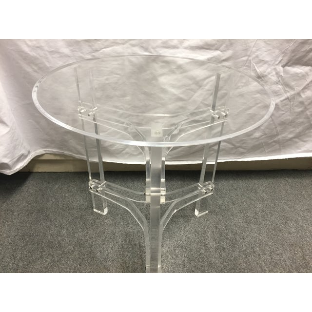 Mid-Century Modern Lucite Side Table - Image 7 of 9