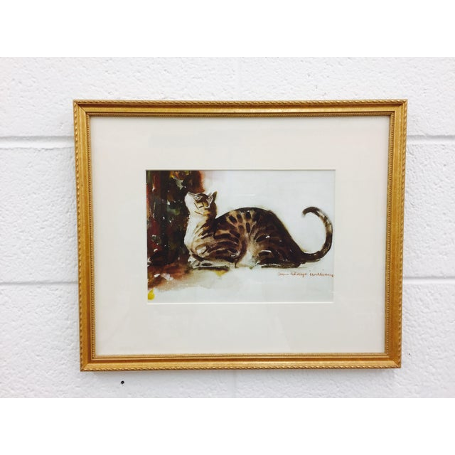 Tabby Cat Watercolor Print in Gold Frame - Image 5 of 7
