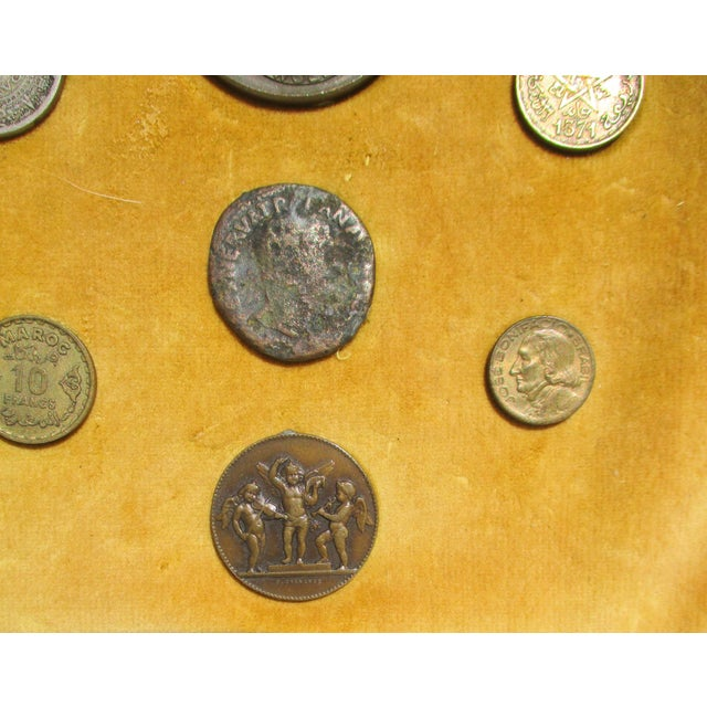 Shabby Chic Medallion and Coin Framed Collection For Sale - Image 3 of 7