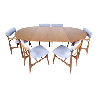 Italian Modern Dining Set With Table and Chairs For Sale
