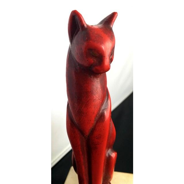 Mid-Century Art Deco Bronze Cat Sculpture - Image 8 of 8