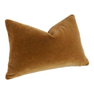 Cognac Angora Mohair Pillow Cover 12x18 For Sale
