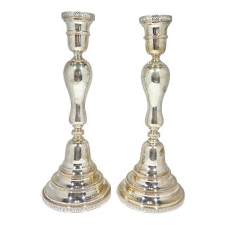 Buccellati Sterling Silver Candlesticks - a Pair For Sale