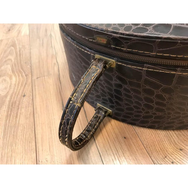 Vintage Faux Crocodile Truly Light Luggage, Prop - Image 4 of 8