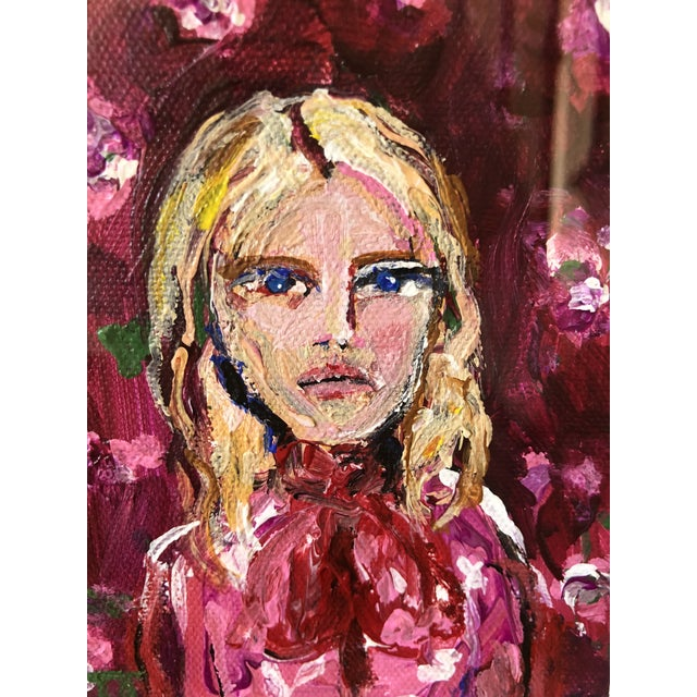 Blonde Beauty is an original painting by JJ Justice. Acrylic on canvas Framed in modern magnetic frame Red, pink, magenta,...
