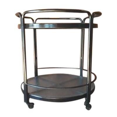 Rolling Outdoor Metal Glass Bar Cart - Image 1 of 6