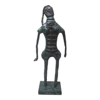 1970s Vintage Rufino Tamayo Bronze Nude Woman Sculpture For Sale
