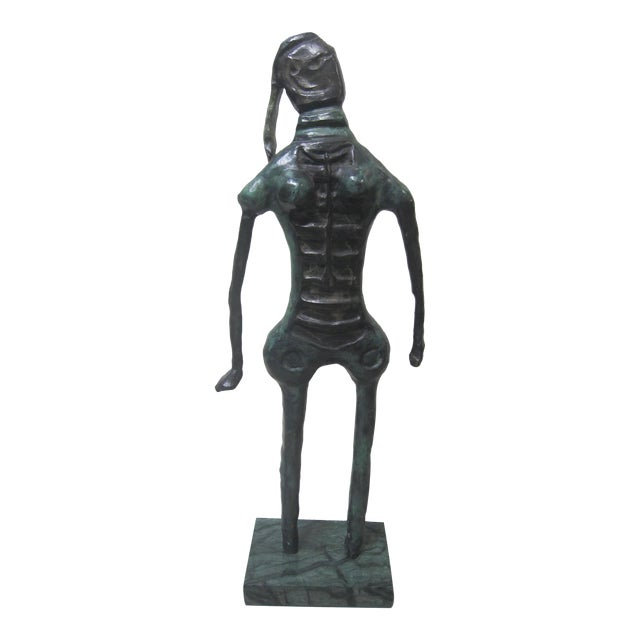 1970s Vintage Rufino Tamayo Bronze Nude Woman Sculpture Mexican Modernism For Sale