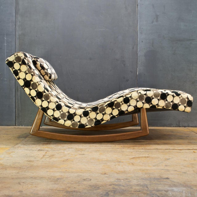 Adrian Pearsall Wave Rocker Chaise Rocking Chair For Sale - Image 9 of 9