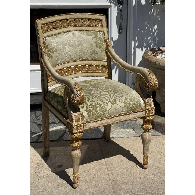 Dessin Fournir - Quatrain Piedmontese Style Pierced Carved Chair For Sale In Los Angeles - Image 6 of 6