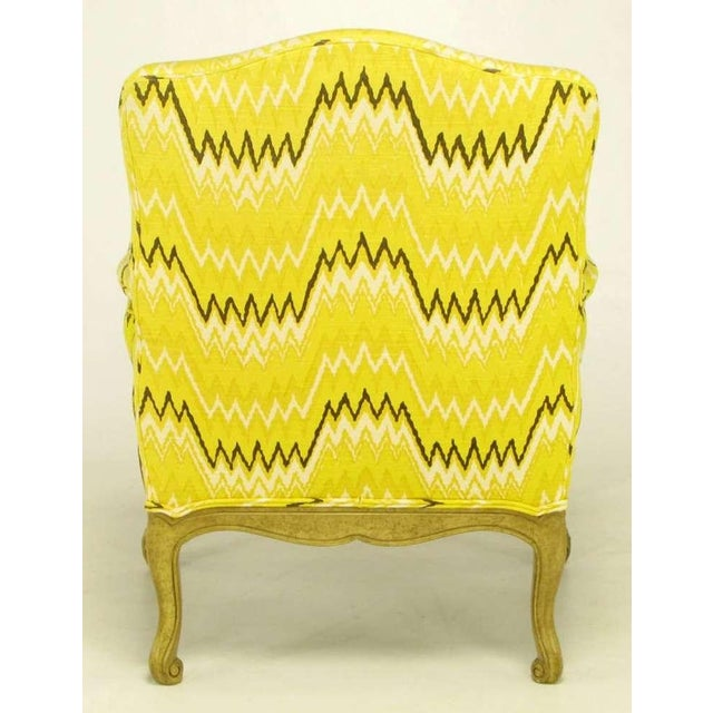 Pair Erwin-Lambeth Louis XV Style Arm Chairs & Ottoman - Image 5 of 10