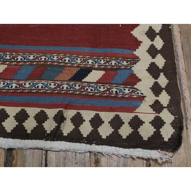 Late 19th Century Antique Shahsavan Kilim For Sale - Image 5 of 9