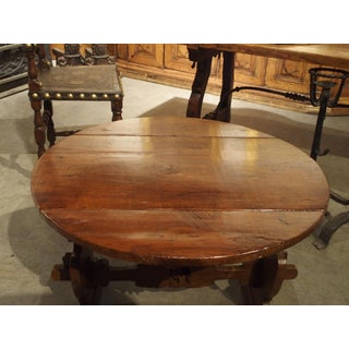 Pair of Antique Walnut Drop Leaf Side Tables From Italy, Circa 1900 Preview
