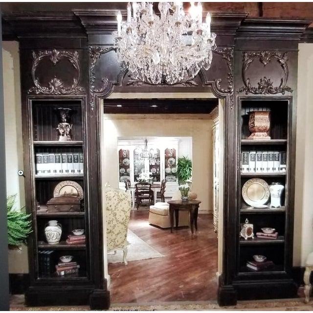 Metal Custom Habersham Influenced Book Shelves For Sale - Image 7 of 13