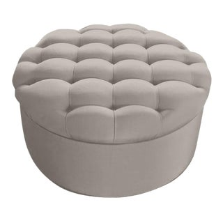 """Custom to Order """"Texture in Linen"""" Collection Ottoman"""