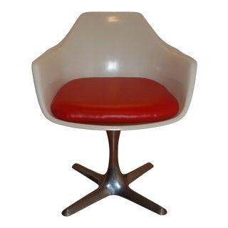 Vintage Mid-Century Plastic Bucket Chair For Sale