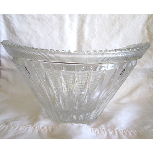 Vintage Cut Crystal Centerpiece Bowl - Image 2 of 7