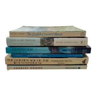 Country Houses, Cottages & Stables - International Design Decor Books - Set of 6 For Sale