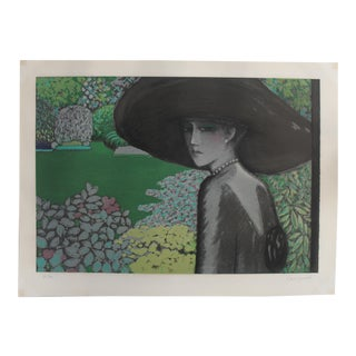 """1980 """"Le Jardin Silencieux"""" Lithograph Numbered 72/150 by Jean Pierre Cassigneul For Sale"""