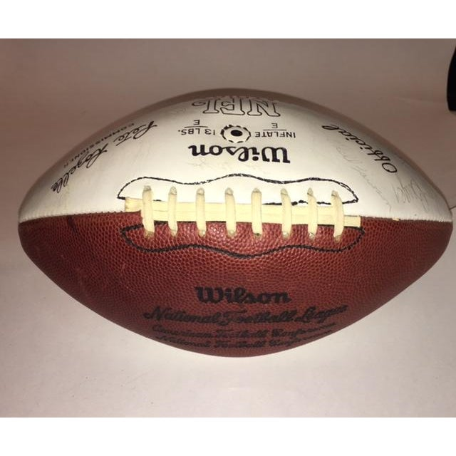 Vintage Autographed New England Patriots Football - Image 3 of 6