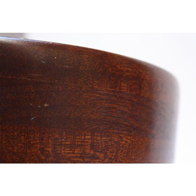 Mid Century Modern Turned Teak Bowl For Sale In New York - Image 6 of 8