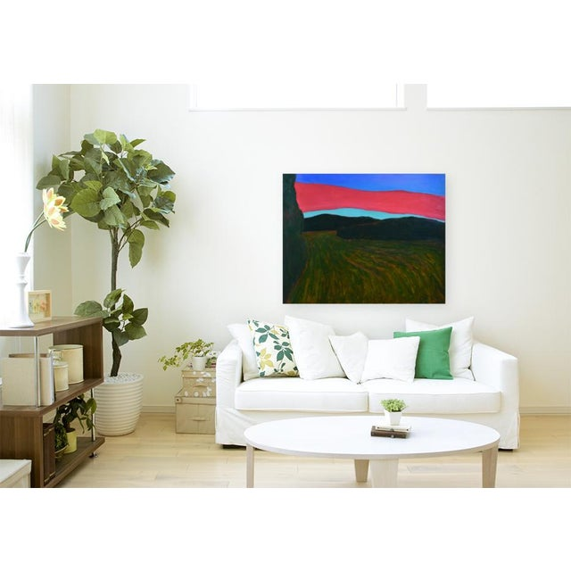 """""""Sunset Over Tilled Fields"""" Large Painting by Stephen Remick For Sale - Image 9 of 11"""