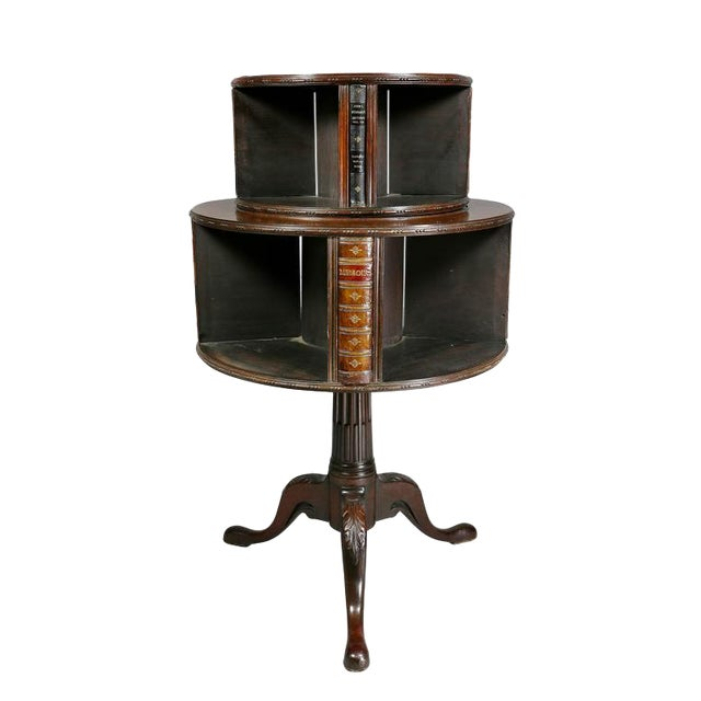 George III Style Mahogany Revolving Bookstand For Sale