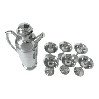 Continental Silver Co. Inc. Cocktail Set - Set of 7 For Sale