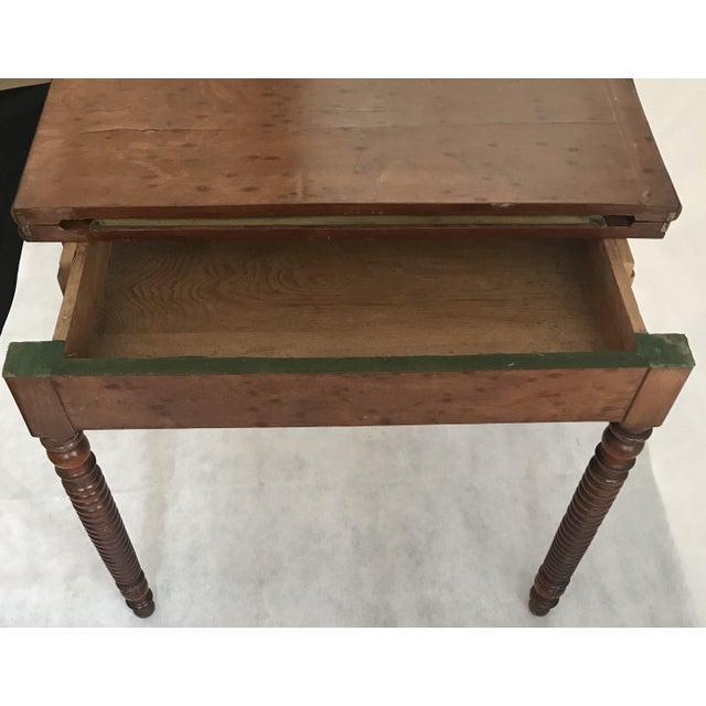 19th Century French Provincial Walnut Game Table or Console For Sale In Portland, ME - Image 6 of 10