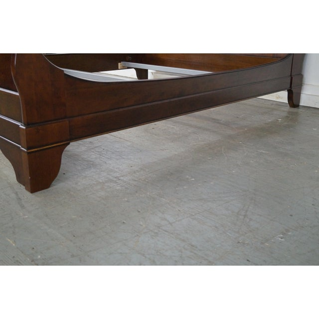 Grange Cherry Wood Queen Size Sleigh Bed - Image 5 of 10