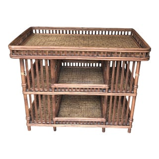 20th Century Boho Chic Large Rattan Buffet/Bar For Sale