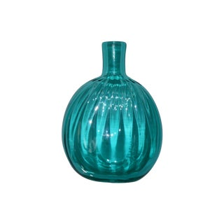 Petite Blown Glass Blue Bud Vase