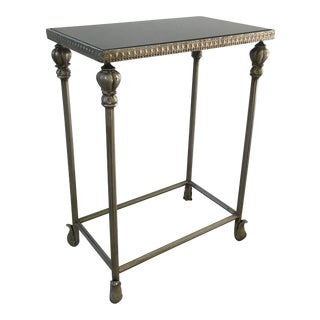 Charming Stone-Topped Side Table For Sale