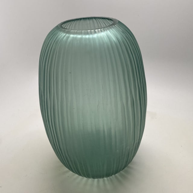 Gray Bungalow 5 Small Gray Blue Moderni Vase For Sale - Image 8 of 9