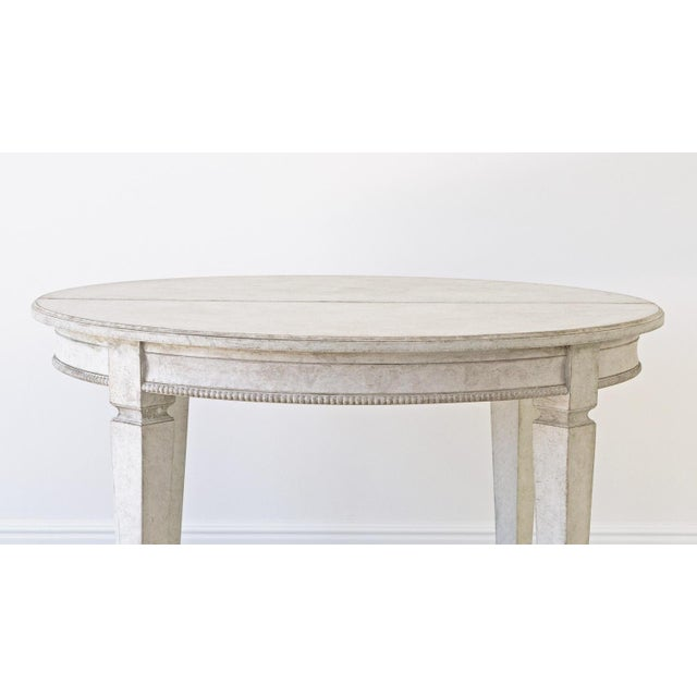 Gray Märta Gustavian Extension Dining Table For Sale - Image 8 of 11