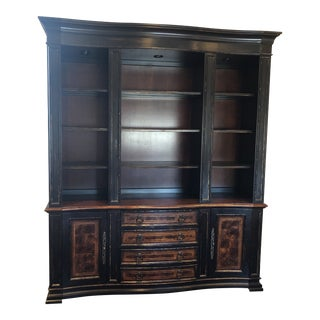 Hooker Furniture Bookcase and Credenza For Sale