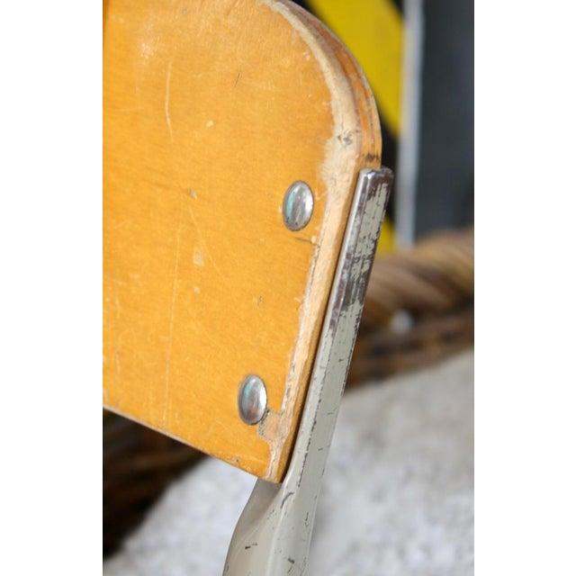 Vintage Wood & Metal Children's Chair - Image 3 of 4