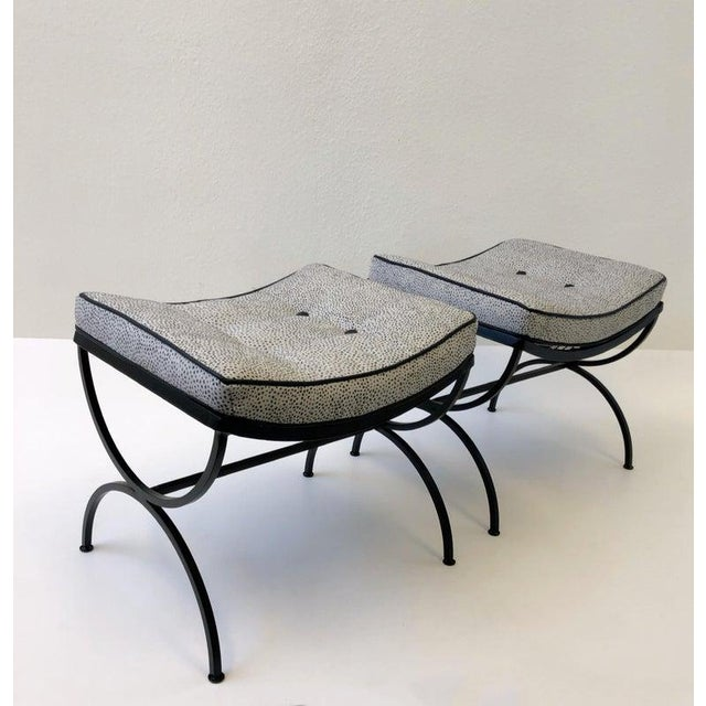 Black Sculptura Ottomans by Woodard - a Pair For Sale - Image 10 of 11