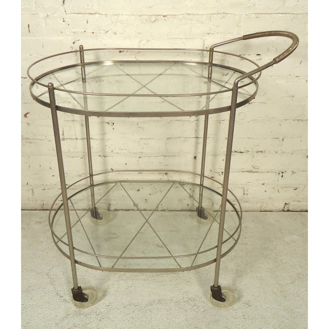 Italian Mid Century Style Tea Cart For Sale In New York - Image 6 of 6